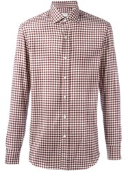 Salvatore Piccolo Checked Classic Shirt Red