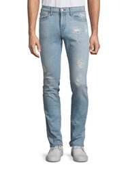 J Brand Tyler Slim Fit Distressed Jeans Dened