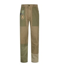 Valentino Patch Utility Cargo Trousers Green