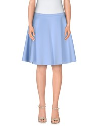 Traffic People Skirts Knee Length Skirts Women Sky Blue