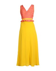 Space Style Concept Long Dresses Yellow