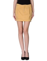 7 For All Mankind Mini Skirts Yellow