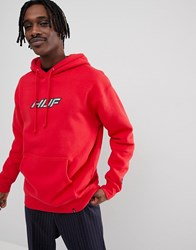 Huf Weld Hoodie With Reflective Logo In Red