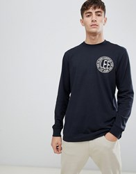 Jeans Chest Logo Long Sleeve Top Black