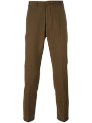 N 21 No21 Slim Fit Tailored Trousers Green