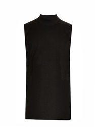 Rick Owens High Neck Cotton Tank Top