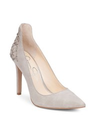 Jessica Simpson Crampell Whipstitch Suede Leather Pumps Beige