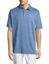 Callaway Opti Stretch Golf Performance Heather Polo Moonlight