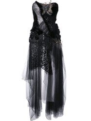 Trash Couture Velvet Butterfly Gown Black
