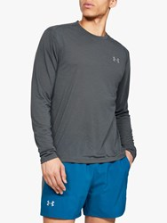 Under Armour Streaker Long Sleeve Running Top Pitch Grey Reflective