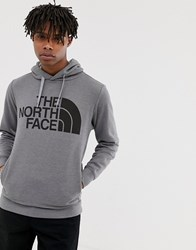 The North Face Mega Half Dome Hoodie In Gray Gray