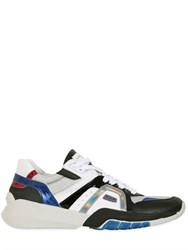 Serafini Leather And Textile Sneakers