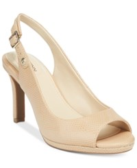 Giani Bernini Blankaa Slingback Heels Only At Macy's Women's Shoes Neutral Sand
