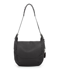 Rag And Bone Bradbury Leather Flap Hobo Bag Black Rag And Bone