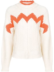 Isabel Marant Knitted Wave Sweater Neutrals