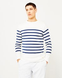 Armor Lux Mariner Sweater Striped Off White