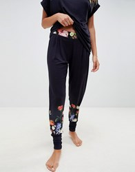 Ted Baker B By Kensington Floral Jersey Jogger Navy
