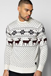 Boohoo Christmas Roll Neck Jumper Ecru