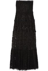 Alexis Magda Strapless Corded Lace Maxi Dress Black