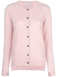 Pringle Of Scotland Classic Fitted Cardigan Pink And Purple
