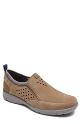 Rockport Men's Truflex Slip On Taupe Leather