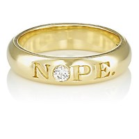 Finn Women's Nope And Ok Ring No Color