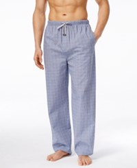 Michael Kors Men's Soft Blue Plaid Woven Pajama Pants