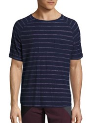Madison Supply Striped Cotton T Shirt Peacoat