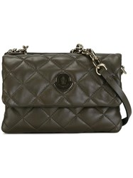 Moncler Poppy Quilted Crossbody Bag Green