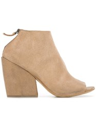 Marsell Open Toe Ankle Boots Nude Neutrals
