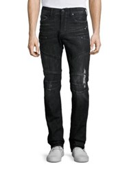True Religion Rocco Simple Slim Fit Moto Jeans
