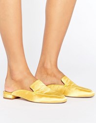 Asos Lashes Square Toe Ballet Mules Yellow
