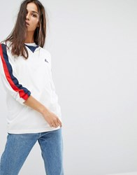 Le Coq Sportif Premium Retro Long Sleeve T Shirt White