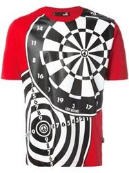 Love Moschino Dartboard Print T Shirt Red