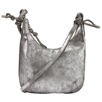 John Lewis Rima Mini Leather Hobo Bag Silver