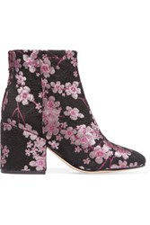 Sam Edelman Taye Floral Brocade Ankle Boots Pink