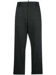 Dsquared2 High Waisted Tailored Trousers Grey