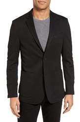 Vince Camuto Men's Big And Tall Slim Fit Stretch Knit Blazer Black
