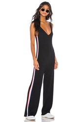 Spiritual Gangster Stripe Jumpsuit Black