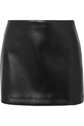 Philosophy Di Lorenzo Serafini Faux Leather Mini Skirt Black