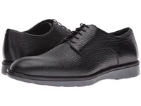 Z Zegna Hybrid Shark Derby Black Men's Dress Flat Shoes