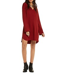 Scotch And Soda Embroidered Shift Dress Seventies Red