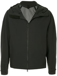 Attachment Zip Up Hooded Jacket Black