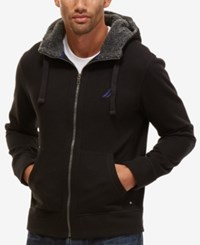 Nautica Men's Big And Tall Fleece Lined Hoodie True Black