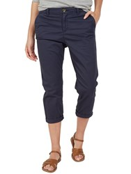 Fat Face Lulworth Chino Cropped Trousers Nightsky