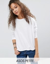 Asos Petite T Shirt In Boxy Fit White