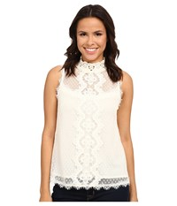 Nanette Lepore Rosaline Tank Top Ivory Women's Sleeveless White