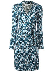 Diane Von Furstenberg 'Quartata Peacock' Print Dress
