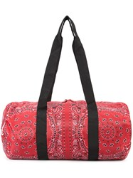 Herschel Supply Co. Bandana Print Holdall Red