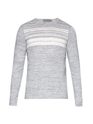 Vince Striped Wool And Cashmere Blend Knit Sweater